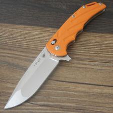 Y-START Messer LK5007OR Gürtelmesser Outdoormesser Survival Flipper Bearing D2