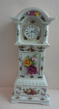 "Royal Albert Old Country Roses GRANDFATHER CLOCK Mint 16"" Pretty"