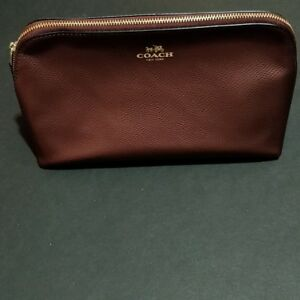 Coach Metallic Cherry Cross-grain Leather Cosmetic Case Large F53387