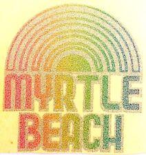Original Vintage Myrtle Beach Rainbow Iron On Transfer