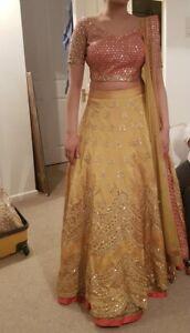 Ladies Women Asian Indian Pakistani saree party wear wedding dress Lenga