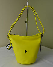 Limited Edition Yellow Leather Coach 36441 Peanuts Snoopy Mini Duffle
