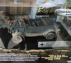 FORCES OF VALOR GERMAN WWII KUBELWAGEN PLUS 2 FIGURES 1/32 SCALE FACTORY SEALED