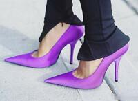 Fashion Womens Candy Color Clubwear High Heels Super Long Pointy Pumps Shoes Hot