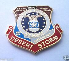 *** US AIR FORCE DESERT STORM MAP *** Military Veteran Hat Pin P15578 EE