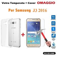 Cover Case TPU + Film Glass Tempered for Samsung Galaxy J3 2016