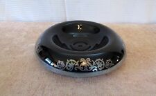 Antique Round Rolled edges Black w/ Silver Console Bowl