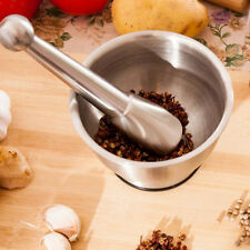 Stainless Steel Mortar And Pestle Crushing Food Herbs Spice Grinder