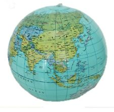 "Inflatable Wold Map Globe Beach Ball Kids Toys Play Pool soft. Size: 40cm 16"" UK"