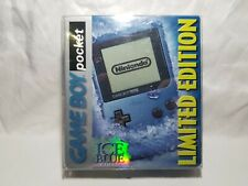 Limited Edition Ice Blue Game Boy Pocket Handheld System Gameboy Box Nintendo