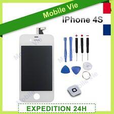 ECRAN IPHONE 4S BLANC VITRE TACTILE + RETINA ORIGINAL LCD SUR CHASSIS