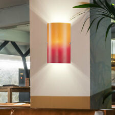 Design wall lamp residential sleep room night light lamps glass red orange E14