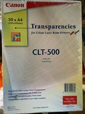 """Canon CLT-500. Canon's 8.5"""" x 11"""" CLT-500 Transparencies. Unopened/sealed. (GB)"""