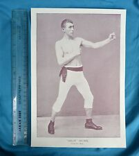 Original 1894 Antique print Portrait Gallery of pugilists 'Sailor' Brown Boxer