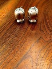 Mexican Sterling Silver Salt & Pepper Shakers in Pumpkin Design: No Monogram
