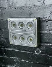 More details for 6 gang solid cast metal light switch industrial 2 way ~ bs en approved