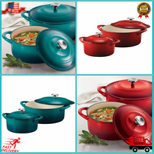 New listing Tramontina Enameled Cast Iron Dutch Oven 2-pack Choice Of Colors *Free Shipping*