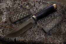 """Premium handmade Russian Custom Hunter Knife """"Seal"""" Bulat 64 HRC"""
