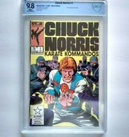 CHUCK NORRIS Karate Kommandos # 1 CBCS 9.8 ~ like CGC ~ WHITE PAGES ~ Zeck art