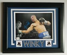 Winky Wright Signed Autographed 8x10 Light Middleweight Champion Framed Jsa