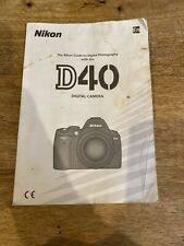 NIKON D40 instructions manual and guide