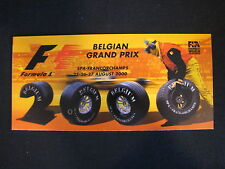Flyer Formula 1 Belgian Grand Prix Spa-Francorchamps 2000 (PBE)