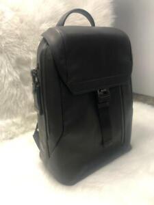 Ashton Dolton Flap Black Pvc Backpack