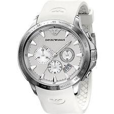 Neuf EMPORIO ARMANI montre ar5850, blanc, Messieurs Chronographe