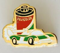 Fujicolor Formula One F1 Motor Racing Camera Brand Pin Badge Vintage (C13)