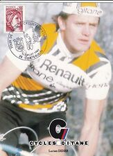 CYCLISME carte cycliste LUCIEN DIDIER équipe RENAULT cycles GITANE 1980