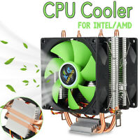 90mm PC CPU Cooler 2 Heatpipe 2 Cooling Fan Heatsink for LGA 775/1155/1156  *