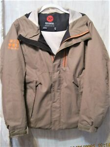 ROSSIGNOL Boys Sz 14 Taupe/Tan Ski Jacket