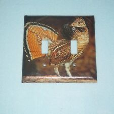 Native Ruffed Grouse Hunting Game Bird 2 Hole Light Switch Cover Plate A
