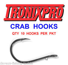 10 TRONIX CRAB HOOKS FOR GAME COARSE SEA FISHING LINE BOAT ROD RIGS LURES PIRKS