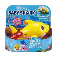 Robo Alive BABY SHARK Sing & Swim Bath TOY Water Activated YELLOW Pinkfong