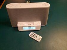 Sony Icf-Cs10iP Fm/Am Clock Radio With Ipod Dock White With Original Remote New