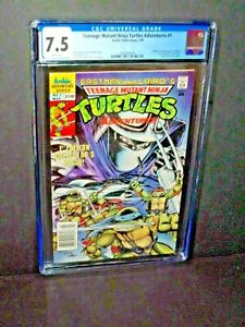 Teenage Mutant Ninja Turtles Adventures #1 (CGC 7.5) Direct; Archie; 1989