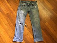 American Eagle Slim Straight Distressed Denim Jeans - Women's Size 4