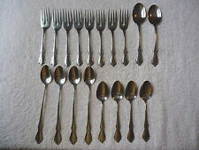 "Set of 18 Oneidacraft Deluxe Stainless "" CHATEAU ? ""  Flatware Serving Pieces"