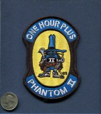 McDONNELL F-4 PHANTOM 1 ONE HOURS Hour USAF US NAVY USMC Foreign Squadron Patch