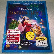 Disney's Fantasia & Fantasia 2000, Anth (Blu-ray, 2010, Canada) w/ Slipcover NEW