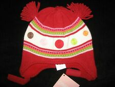 NWT Gymboree Baby Girl Lolly Pop Red HAT 6-12 months