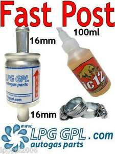 LPG service kit IC12 100ml & 16x16 Filter and Injector cleaner Autogas Propane