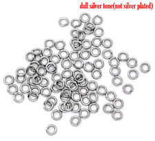 200 STAINLESS STEEL JUMP RINGS~HYPOALLERGENIC~4x0.8mm~ Charms~Pendants~Sew (20J)