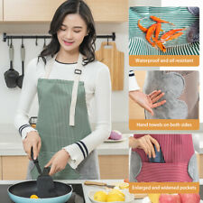 Adjustable Waterproof Apron Pocket Kitchen Bib Cooking Baking Restaurant Home UK