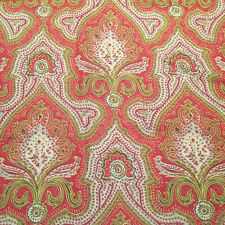 ❤️ POTTERY BARN Linen Blend Red Paisley Damask Lumbar Pillow Sham Cover 16 x 26