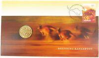 .2007 UNC $1 FDC PNC. BOUNDING KANGAROOS