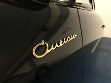 Porsche 356/911/912 Outlaw Emblem Gold Plated / Logo / Script / Badge