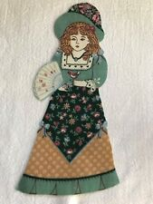 "Victorian Courtship Doll - 1 - Iron-On Fabric Appliques.. 6 7/8"" Tall.  (E)"