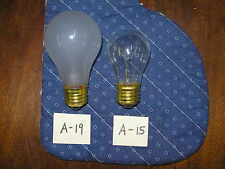 A15  25 watt  Frosted Bulb  130V for Appliance and Fan smaller than regular bulb